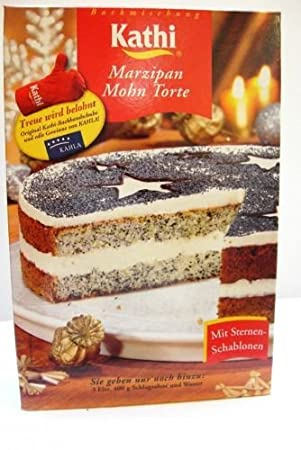 Kathi Marzipan Mohn Torte Backmischung Amazon De Kuche Haushalt