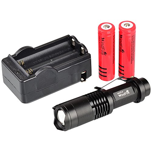 WindFire CREE XML-T6 U2 LED 1800 Lumens ZOOMABLE 5 Modes ...