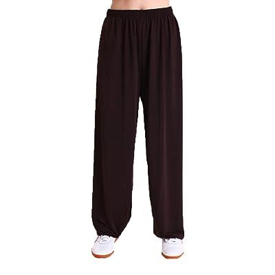 Doux Confortable Pantalon Culotte Bouffante Unisexe Art Martiaux Elastique Fitness Pantalons