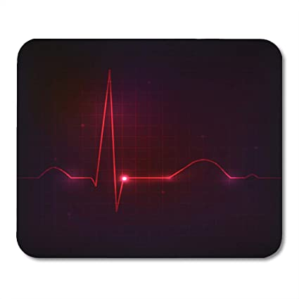 Amazon com : Emvency Mouse Pads Red Beat Colorful Human