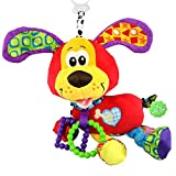 #2: JENTXON Infant Toys Plush Puppy Soft Animal Toy with Teether Vibrating Tail for Baby Educational Development