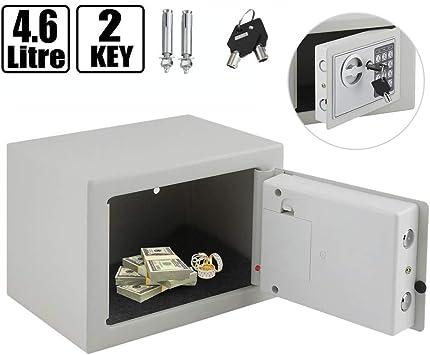 Caja de Seguridad electrónica Digital pequeña de 4,6 L con Llaves ...