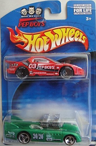 hot-wheels-2-pack-exclusive-pep-boys-iroc-firebird-and-double-vision-die-cast-set