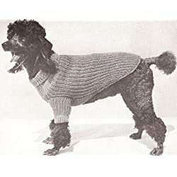 Vintage Knitting PATTERN to make - Knitted Dog Sweater S/M/L Instructions. NOT a finished item. This is a pattern and/or instructions to make the item only.