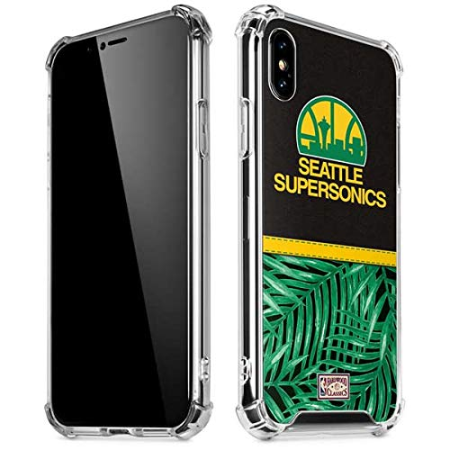 Skinit Seattle Supersonics Retro Palms iPhone XR Clear Case - Officially Licensed NBA Phone Case Clear - Transparent iPhone XR Cover