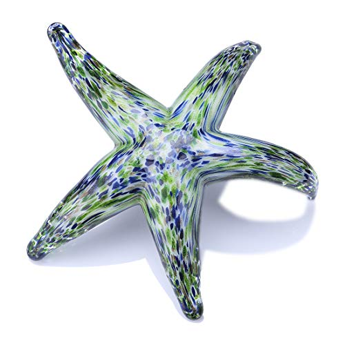Qf Hand Blown Glass Star Fish, Handmade Murano Style Sea Animal Figurine, Glass Star Fish, Home Decor