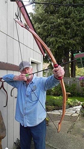 B.W 45-50lb Real Leather Bows Archery Recurve Native American Buckskin Bow 58in