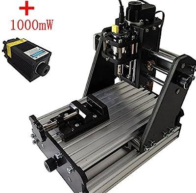 Jian Ya Na CNC Mini Milling Engraving Machine 3 Axis Carving DIY Engraver with 1000mw Laser Head