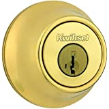 Kwikset 665 3 SMT RCAL RCS 665 Double Cylinder Polished Brass Deadbolt Featuring SmartKey