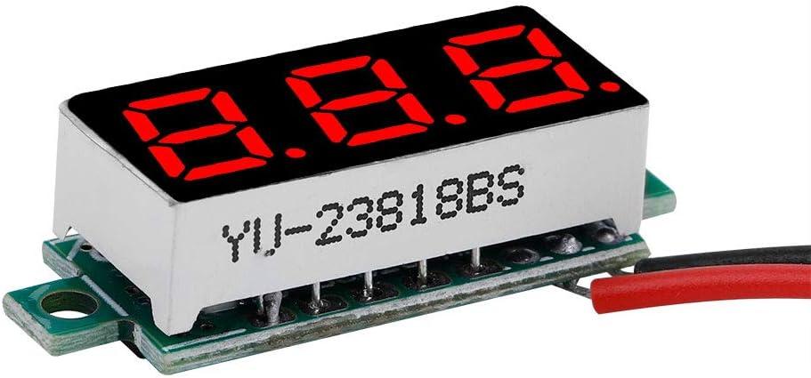 #1 Zetiling Mini Num/érique DC Voltm/ètre 0.28 Pouce Deux Fils 2.5V-30V Mini Num/érique DC Voltm/ètre Tension Testeur Compteur