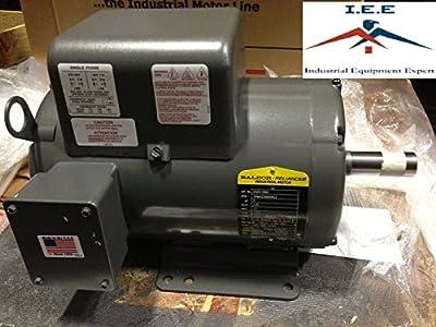 New Baldor 5 Hp 1 Ph Air Compressor Electric Motor 184t Fr 230v L1410t