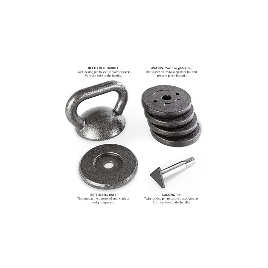 Apex Adjustable Heavy Duty Exercise Kettlebell Weight Set Strength Training and Weightlifting Equipment for Home Gyms APKB 5009
