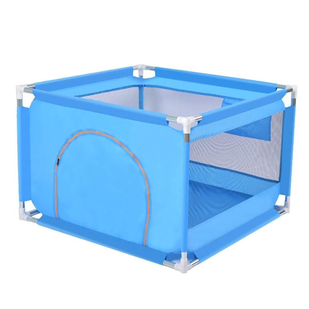 赤ちゃんの囲い オーシャンボール、ベビーフェンスキッズアクティビティセンターのコーナーエクステンション屋内および屋外プレイ付きベビーベビーサークル (Color : Blue)  Blue B07TLJ74KG