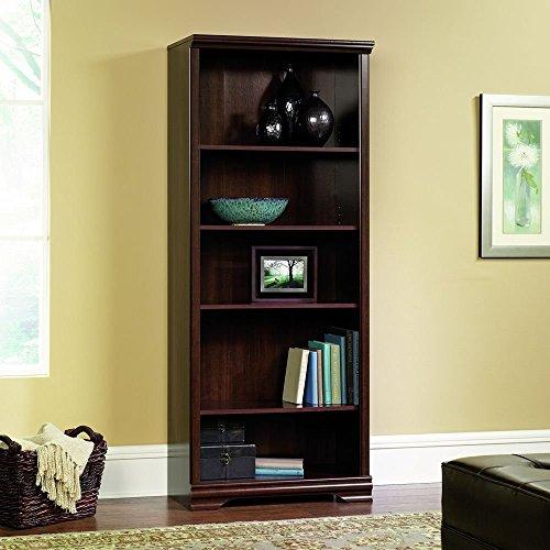 Sauder Furniture Carolina Estate 5-Shelf Adjustable Bookcase, Cherry   411897