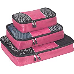 eBags Packing Cubes - 3pc Set (Peony)