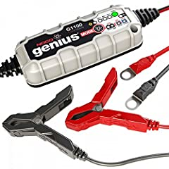 NOCO Genius G1100 1.1 Amp UltraSafe Smart Battery ChargerThe G1100 UltraSafe Smart Battery Charger is perfect for charging motorcycles, ATVs, snowmobiles, personal watercraft, lawn mowers and more. Extremely effective for maintaining automoti...