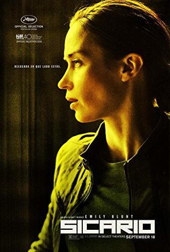 Sicario Movie Poster 2 Sided Original Advance Emily Blunt