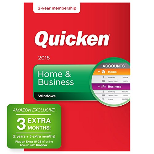 Quicken Home & Business 2018  27-Month Personal Finance & Budgeting Software [PC Box]  Amazon Exclusive