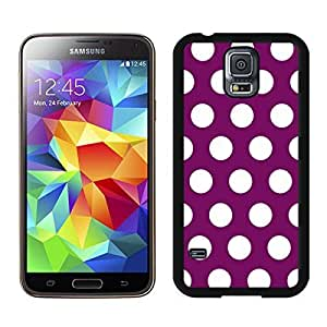 Cheap Polka Dot Purple and White S5 Case for Girls Best Samsung Galaxy S5 Case for Boys Spot Black Cover