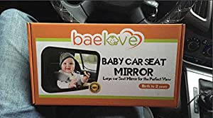 BaeLove ® Baby Car Mirror | Back Seat Rear-facing Infant In Sight | Cleaning Cloth | Luxury Holiday Gift Box | CRASH TESTED | Lifetime Guarantee
