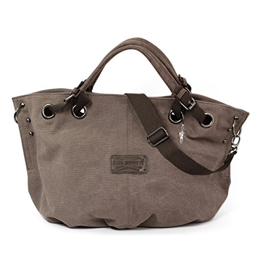 Bag Street 4530 - Bolso bandolera para mujer, lona marrón