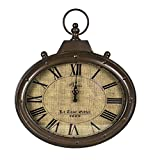 Sagebrook Home 10959 Metal Wall Clock, Brown Metal, 15.75 x 2 x 18.25 Inches Review