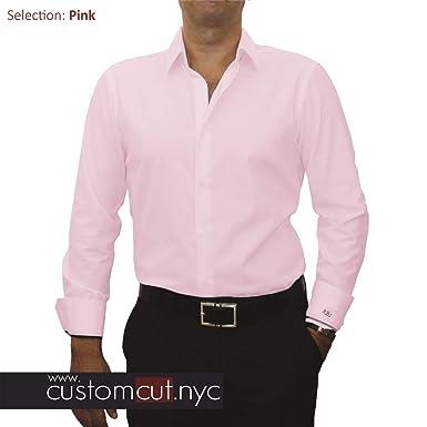 f7a7de8a7a Pale Pink 100's Count Pin Dot Custom Monogrammed Dress Shirt (#cc47 ...