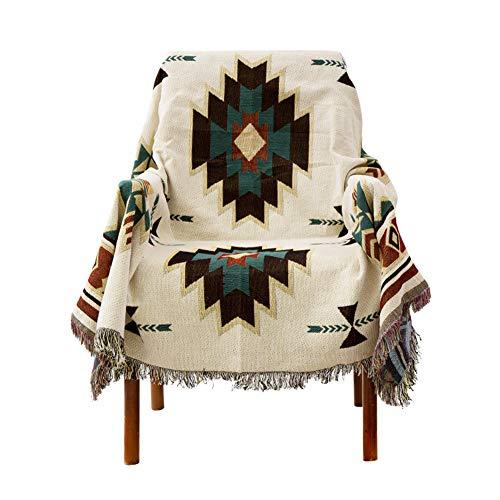 YXDDG Fundas de sofá Inicio Decorativo Lujo algodón Tejido Tiro Manta árbol de Navidad Retro Tapiz sofá sillón...