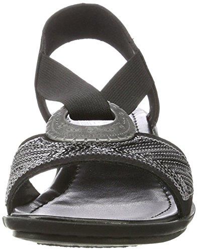 Rieker 62678, Sandalias con Cuña para Mujer Negro (Schwarz / 00)