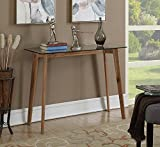 Convenience Concepts Clearview Console Table, Natural / Glass