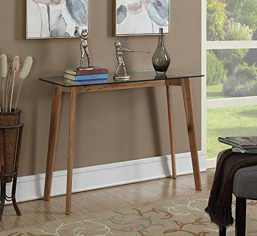 Convenience Concepts Clearview Console Table, Natural / Glass by Convenience Concepts