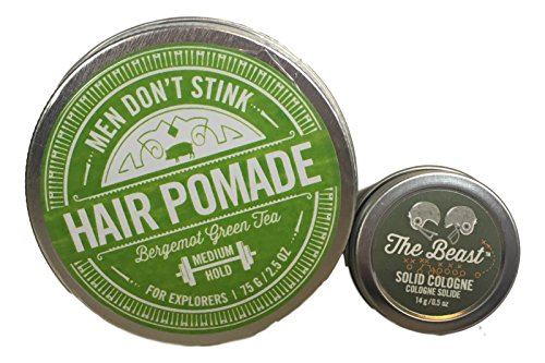 (Walton Wood Farm Men Don't Stink Hair Pomade with Mini The Beast Solid Cologne (Bergemot Green Tea))
