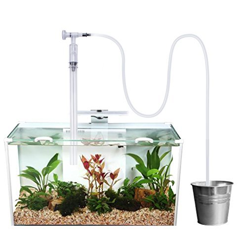 OWUDE Aquarium Cleaner Siphon Fish Tank Gravel Sand with Flow Control Vacuum Water Filter Exchanger, Non Extrusion Easier Operation Perfect for Cleaning Medium and Large Scale Fish Tank by OWUDE