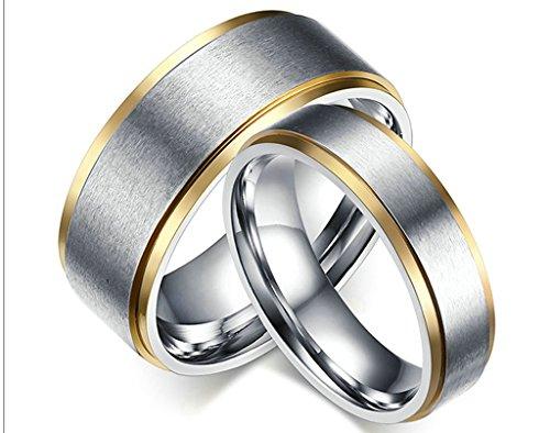 Daesar Manner Frauen Verlobungsringe Edelstahl Ring Silber Gold