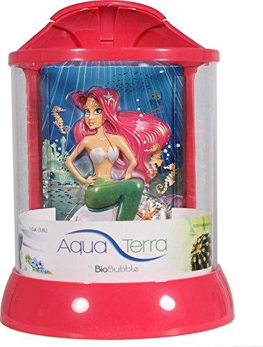 BioBubble AquaTerra 3D Mermaid Background, 1 gal, Pink by Bio-Bubble