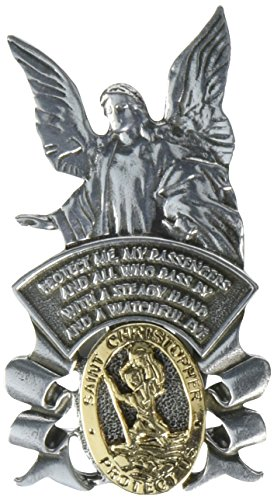 Cathedral Art KVC122 Auto Visor Clip, St. Christopher/Guardian Angel, 2-3/8-Inch (Auto Visor Clip)