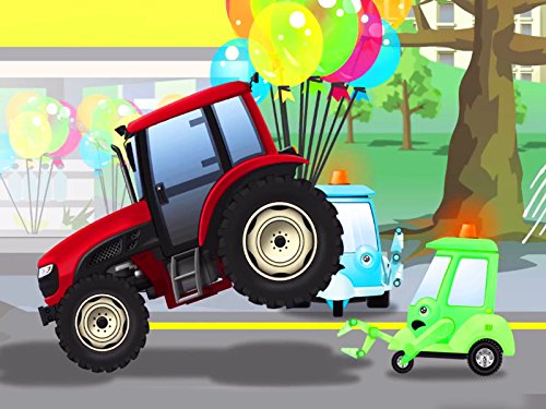 Red Tractor with baloons for $<!--$0.99-->