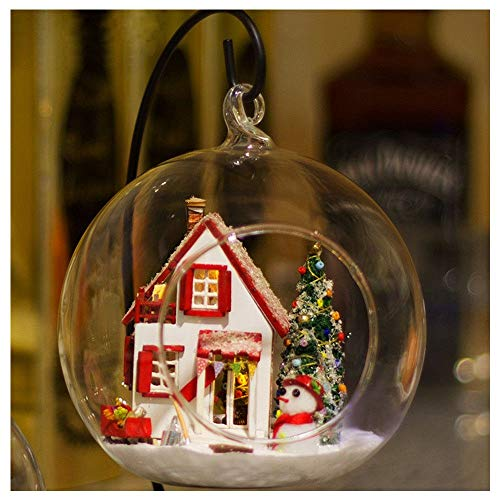 ZIWEIXING Wooden DIY Miniature House Furniture Led House Decorate Creative Birthday Gifts for Boys and Girls,Puzzle Houses Help Develop Children's Intelligence (As Shown)