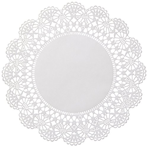 200 White Round Paper Lace Doilies - 6 inch - Add an extra touch to your baked goods]()