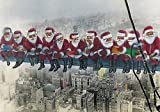 'CHRISTMAS IN NEW YORK': Pack of 3 funny Christmas greeting cards incl. envelope - humorous, crazy and very special