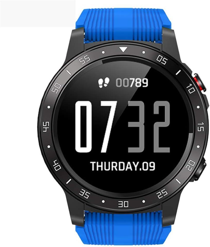 YPSMCYL Reloj Inteligente con Pantalla Táctil North Edge Frecuencia Cardíaca Presión Arterial Brújula Reloj GPS Pantalla A Color Reloj Bluetooth,Blue