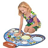 QXMEI Dance Blanket Children Dance Blanket Percussion Play Blanket Parent-Child Toys Electronic Music Pad Dance Learning Gift Product Size: 30.7inchs 24.4inchs