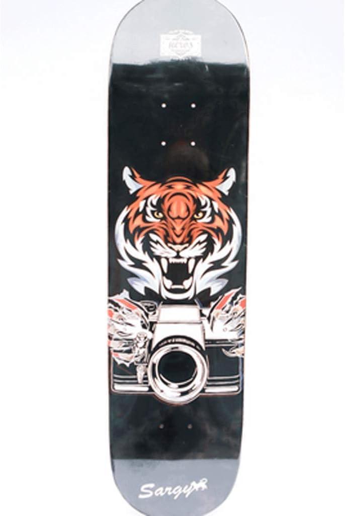 ホールボードセット 大人用 プロフェッショナル 4輪 両面傾斜付きスケートボード ショートボード JLZS-007 タイガー