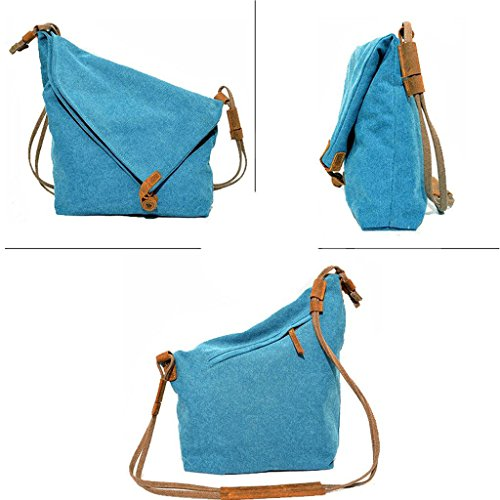Lona Bolso Mujer Cruzados Para De Topteck Azul RzxqwAAt