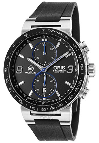 Oris 77376854184-Setrs-Sd Men's Ltd Ed Williams F1 Team Auto Chrono Black Rubber & Dial Ss Watch