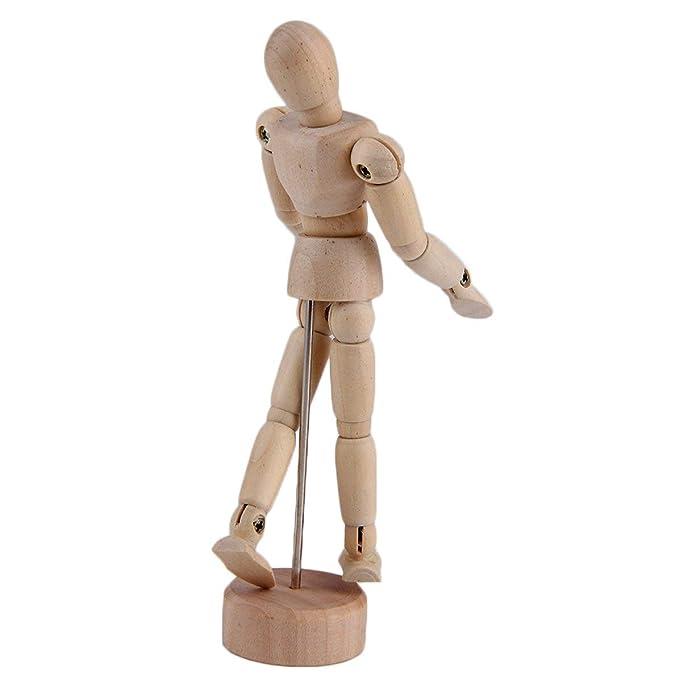 ideal como modelo para estudios de movimiento 20-50 cm de alto Meister de fina madera zamak FSC Maniqu/í articulado para dibujo