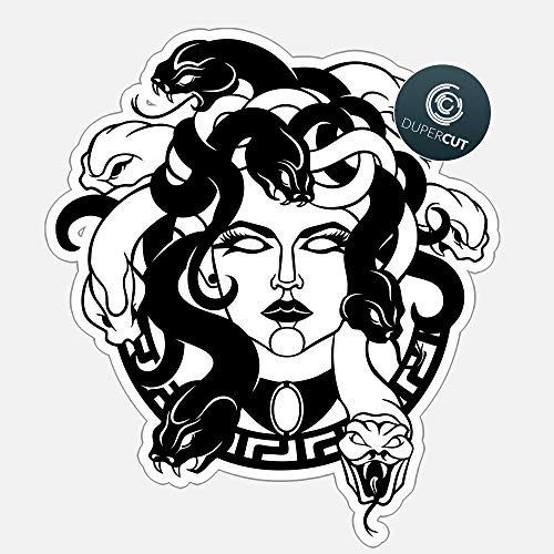 Ancient Various sizes Decal Stickers Medusa Face Greek Mythology Tablet Laptop Weatherproof 10 X 10 Inches