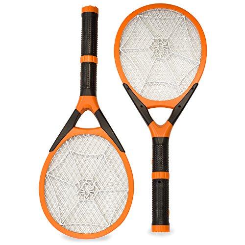 Aspectek l Rechargeable l Electronic Fly Swatter | Killer. Handheld | Fly Zapper | Detachable Flash Light, 2 pack