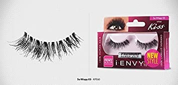 ae59f31a097 Image Unavailable. Image not available for. Color: Kiss I Envy So Wispy 03  Lashes ...