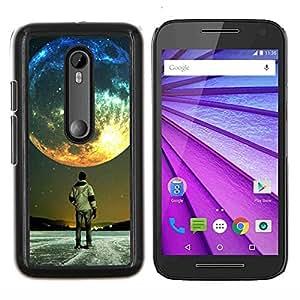 Caucho caso de Shell duro de la cubierta de accesorios de protección BY RAYDREAMMM - Motorola MOTO G3 3rd Gen - Luna Colores
